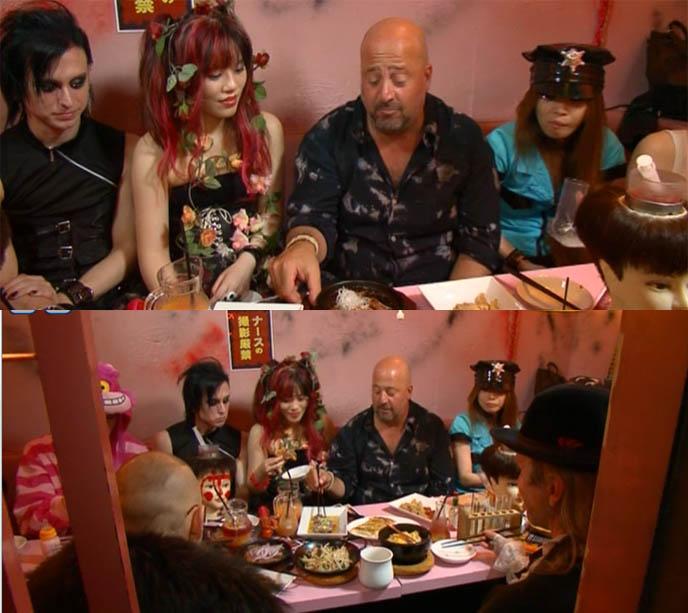 Andrew Zimmern Bizarre Foods Tokyo Japan, theme restaurants Alcatraz