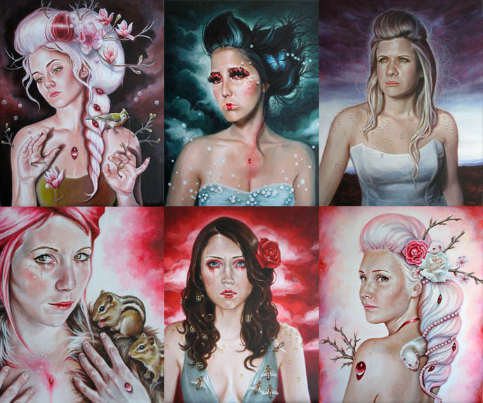EDITH LE BEAU ART: FAIRY TALE & MYTHOLOGY PAINTINGS, LA CARMINA fan art, Greek, Roman and Celtic mythologies, movies and fairytales artwork, young montreal painter, young artist edith lebeau