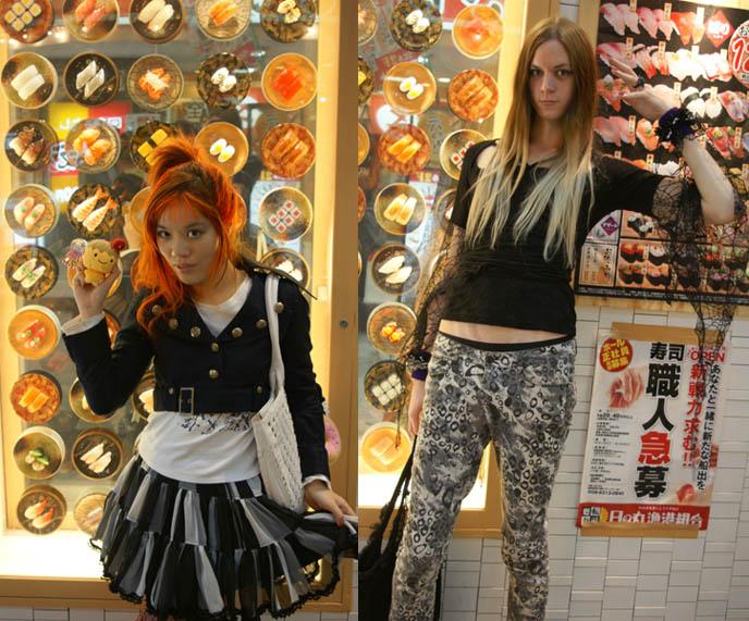conveyer sushi parlor, osaka sushi restaurant, osaka cheap sushi, BAR MIDIAN IN OSAKA, OWNED BY FUKI fu-ki OF VISUAL KEI BAND BLOOD. HARD ROCK HEAVY METAL gothic BARS IN JAPAN, JROCK VK HANGOUTS. キッチュ. japanese dive bars, rock concerts performances