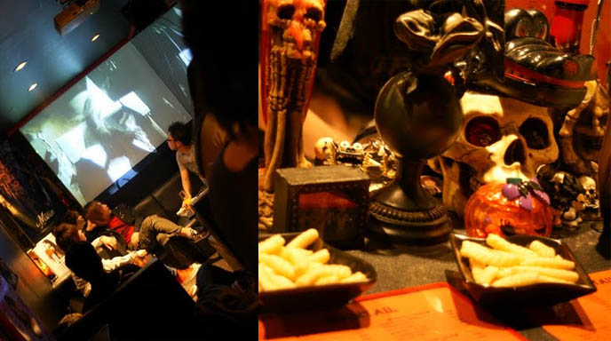 skull skeleton decoration, goth home decor, goth bars in japan, umeda bars osaka, BAR MIDIAN IN OSAKA, OWNED BY FUKI OF VISUAL KEI BAND BLOOD. HARD ROCK HEAVY METAL gothic BARS IN JAPAN, JROCK VK HANGOUTS. キッチュ. japanese dive bars, rock concerts performances
