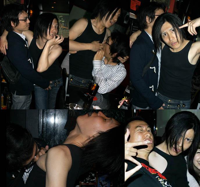yaoi, boy boy action, japanese boys yaoi, visual kei boys kissing, goth bars in japan, umeda bars osaka, BAR MIDIAN IN OSAKA, OWNED BY FUKI OF VISUAL KEI BAND BLOOD. HARD ROCK HEAVY METAL gothic BARS IN JAPAN, JROCK VK HANGOUTS. キッチュ. japanese dive bars, rock concerts performances