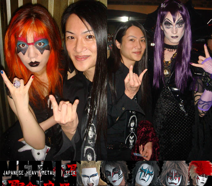 kiss ace frehley makeup, gene simmons kiss eye makeup costume halloween, BLACK VEIL OSAKA, DJ TAIKI'S GOTH ebm CLUB NIGHT. KOZI OF MALICE MIZER, FU-KI OF BLOOD, DARK MARCHEN AT GOTHIC CYBER INDUSTRIAL PARTY. Territory occult store, cute Lolitas Japan, cosplayers, Japanese Rave