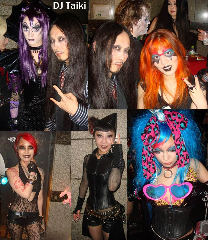 dj taiki, club neo osaka, black veil goth party, BLACK VEIL OSAKA, DJ TAIKI'S GOTH CLUB NIGHT. KOZI OF MALICE MIZER, EBM music in japan, FUKI OF BLOOD, DARK MARCHEN AT GOTHIC CYBER INDUSTRIAL nightclub. Territory occult store, cute Lolitas Japan, cosplayers, Japanese Rave