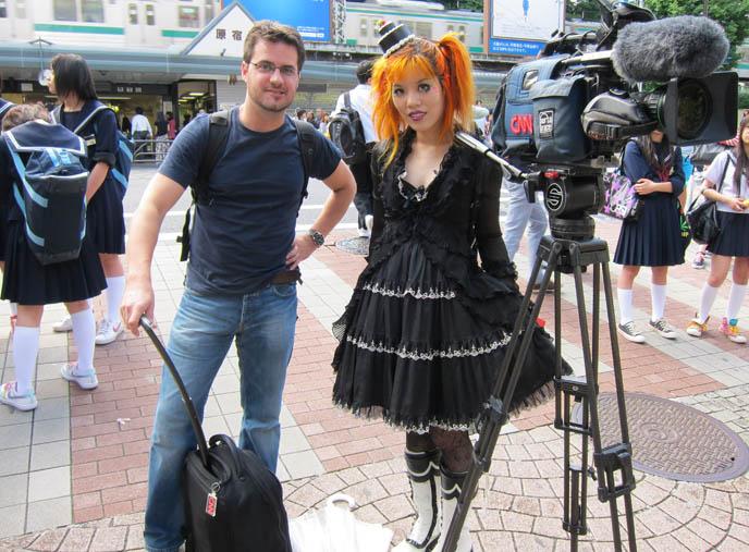 CNN travel tv show in tokyo, cnn INTERNATIONAL & CNNGO TV crew: TOKYO GOTH FASHION DESIGNER KENZO-A, TAKUYA ANGEL HARAJUKU SHOP, kenzo stigmata rituals gothic fashion show, la carmina, little cake lolita hat, agent lover, pretty lolita girls, japanese harajuku street style book