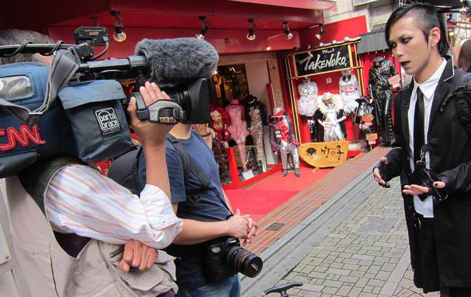CNN INTERNATIONAL & CNNGO TV SHOW: TOKYO GOTH FASHION DESIGNER KENZO-A, TAKUYA ANGEL HARAJUKU SHOP, kenzo stigmata rituals gothic fashion show, la carmina, little cake lolita hat, agent lover, pretty lolita girls, japanese harajuku street style book