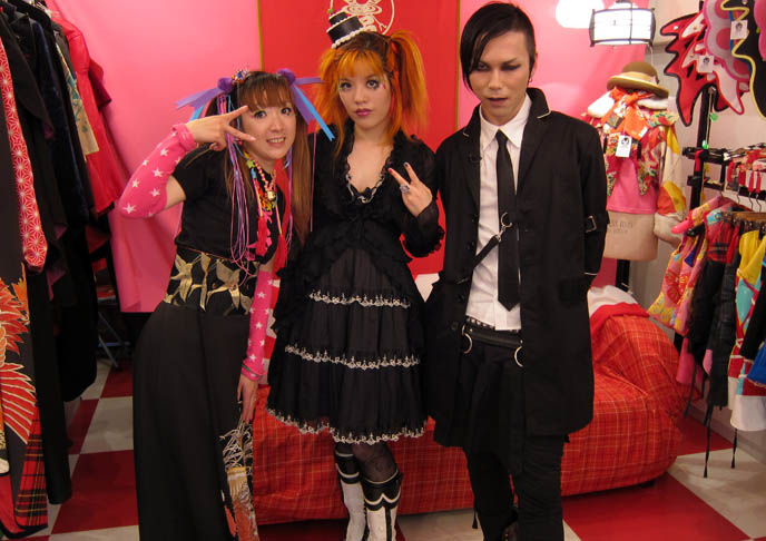 takuya angel boutique, cyber shop in harajuku, crazy japanese clothing, CNN INTERNATIONAL & CNNGO TV SHOW: TOKYO GOTH FASHION DESIGNER KENZO-A, TAKUYA ANGEL HARAJUKU SHOP, kenzo stigmata rituals gothic fashion show, la carmina, little cake lolita hat, agent lover, pretty lolita girls, japanese harajuku street style book