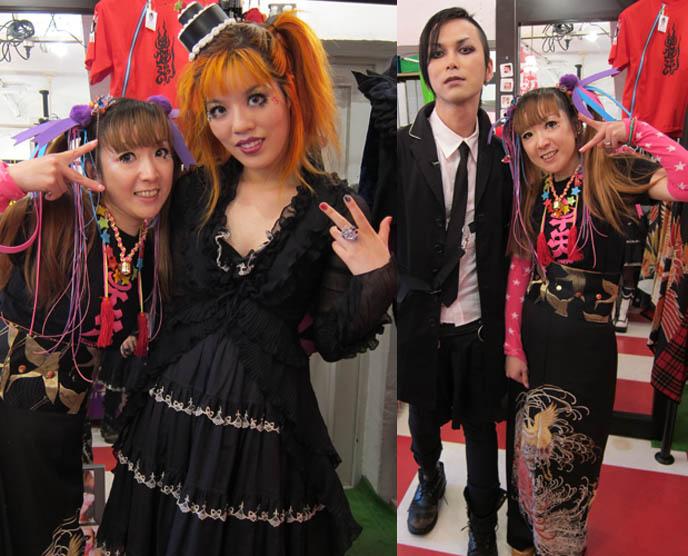 takuya angel boutique, cyber hair falls, alternative shop in harajuku, crazy japanese clothing, CNN INTERNATIONAL & CNNGO TV SHOW: TOKYO GOTH FASHION DESIGNER KENZO-A, TAKUYA ANGEL HARAJUKU SHOP, kenzo stigmata rituals gothic fashion show, la carmina, little cake lolita hat, agent lover, pretty lolita girls, japanese harajuku street style book