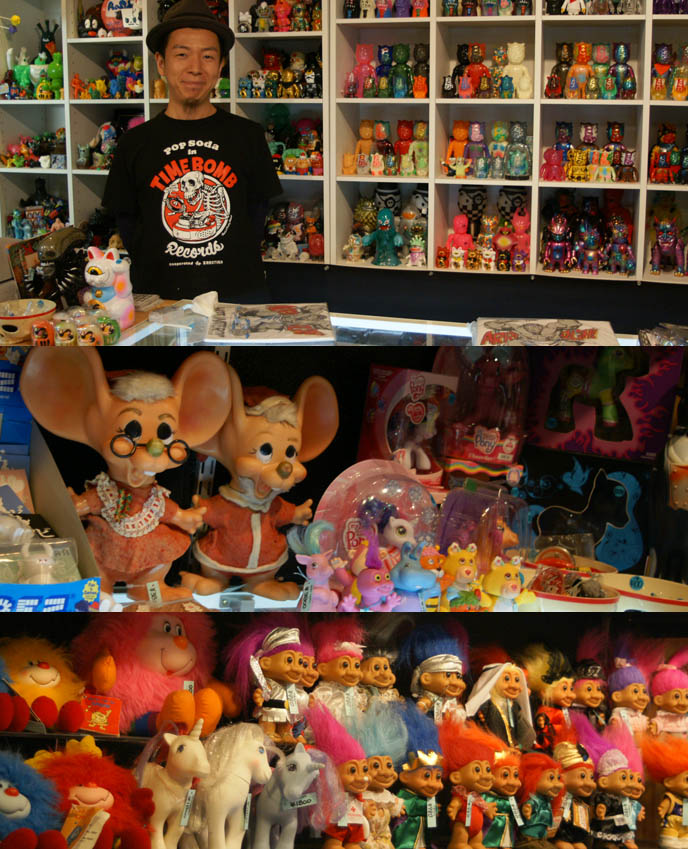 Kiddyland harajuku, vintage rare troll dolls, 1980s toys, my little ponies for sale, collector items japanese vinyl figures, OSAKA OCCULT TAROT CARD & FORTUNE TELLING PARLOR, BLEEDING MARIA. RETRO 1980S TOY SHOP IN AMERIKAMURA, SHINSAIBASHI JAPAN