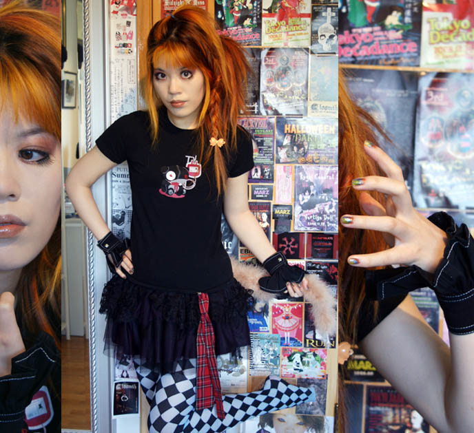 mall goths, gothic emo makeup, eyeshadows fake lashes japan, orange hair girl, dyed orange hairstyle, teenage wolfpack, werewolves haunt high schools, san antonio texas, TWILIGHT MAKEUP TUTORIAL: VAMPIRE & WEREWOLF MAKEUP TECHNIQUES. HOW TO: BLOODY DRIPPING LIPS, VAMPIRE EYES. ECLIPSE, NEW MOON FILM. diamond print tights, pierrot costume, fox tail fashion