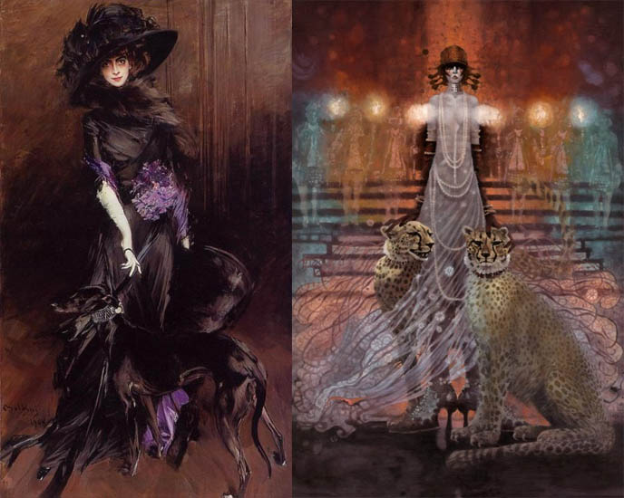 la casati, marchesa luisa casati, eccentric italian heiress, occult fashion icon, early goth fashionista, femme fatale, muse, flamboyant la casinelle, salon hostess