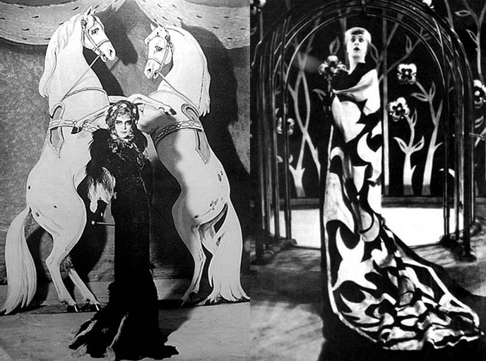 1920s art deco fashion dresses, flapper couture, la casati, marchesa luisa casati, eccentric italian heiress, occult fashion icon, early goth fashionista, femme fatale, muse, flamboyant la casinelle, salon hostess