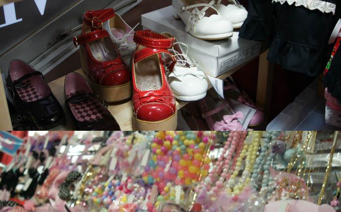 Gothic Lolita shopping guide, ikebukuro Harajuku punk clothing, where to buy Gothic Lolita ladies designer brand clothing Tokyo Japan. cute kawaii gal gyaru, fairy kei, harajuku girls clothes, department store in sunshine city, lolitas shoes egl sales, cute Japanese girls.