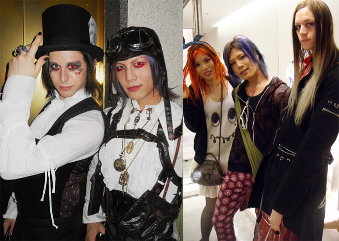 steampunk boys, blue hair japanese boy, STEAMPUNK IN JAPAN! KENNY CREATION: ELEGANT GOTH ARISTOCRAT FASHION, HARAJUKU MENS CLOTHING & STREET STYLE. steampunk clothing where to buy, shopping, Victorian mens vests and goggles
