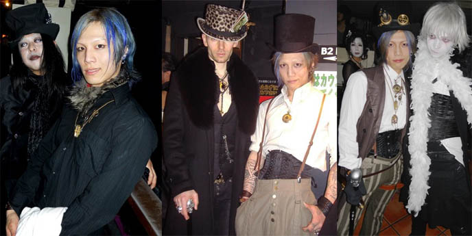 steampunk tutorial, steampunkers, blue hair japanese boy, STEAMPUNK IN JAPAN! KENNY CREATION: ELEGANT GOTH ARISTOCRAT FASHION, HARAJUKU MENS CLOTHING & STREET STYLE. steampunk clothing where to buy, shopping, Victorian mens vests and goggles