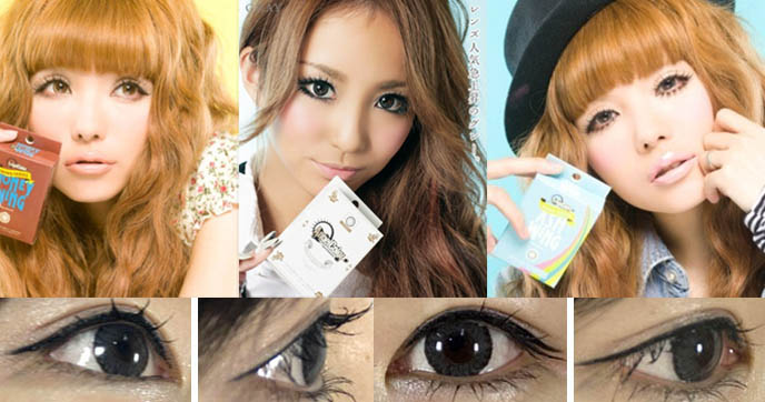 japanese circle contact lenses, geo contacts, where to buy giant iris big eyes japan contact lens, controversy big eyes in asia, novelty colored lenses, korea pop star eyes, harajuku girls fashion accessories