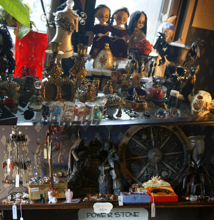 japanese witch spells potions, herbs apothecary, vampire, OSAKA OCCULT TAROT CARD & FORTUNE TELLING PARLOR, BLEEDING MARIA. goth clothing and accessories store, alternative punk fashion osaka, gothic lolita, japanese goth girls, AMERIKAMURA, SHINSAIBASHI JAPAN, RETRO 1980S TOY SHOP troll dolls, my little ponies, cupcake dolls, vintage rare barbies