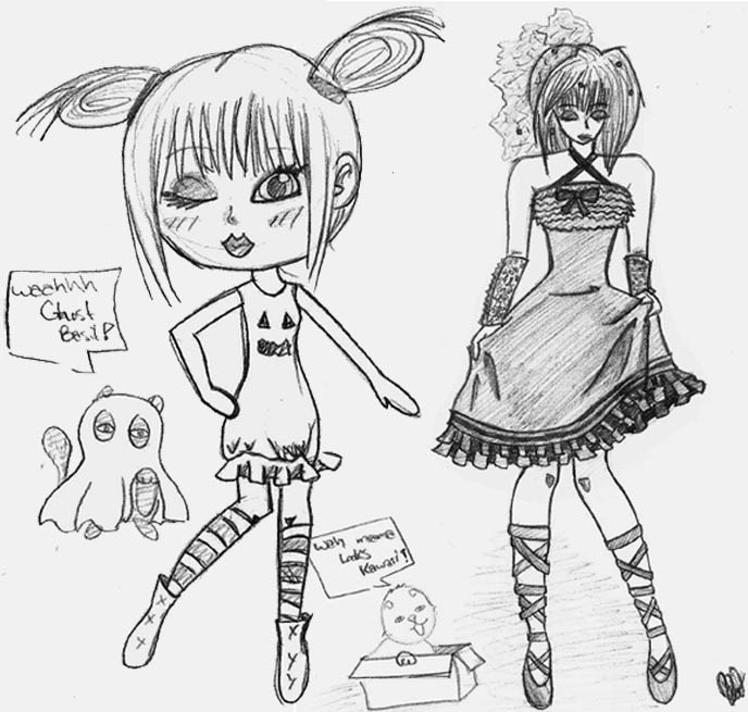 la carmina fan art, chibi, fanart, basil farrow, scottish fold drawing, picture, sketch of kitty, kawaii neko, graphic design, kawaii girls, japanese manga anime style, deviantart