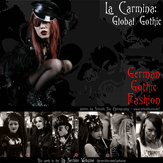 German Gothic fashion, goth travel show, Germany goth clothing brands, cyber styles, dark culture events: Wave Gotik Treffen music festival, Steampunk and Gothic Lolita clothing in Germany. Schillerndes Dunkel book