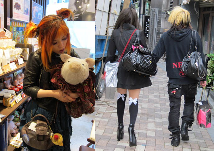 cute pig stuffed toy, plush pigs, goth teens with dyed bleached hair, NEW TOKYO TV HOSTING JOB: DUTCH PEPSI WEB EPISODES ABOUT JAPAN POP CULTURE & FASHION! AMSTERDAM, NETHERLANDS TRAVEL HOST. Gothic Lolita turquoise dress, rare JSK, carina e arlequin, jingu bridge harajuku street style, jingubashi, harajuku cosplayers, tokyo crazy teen fashion