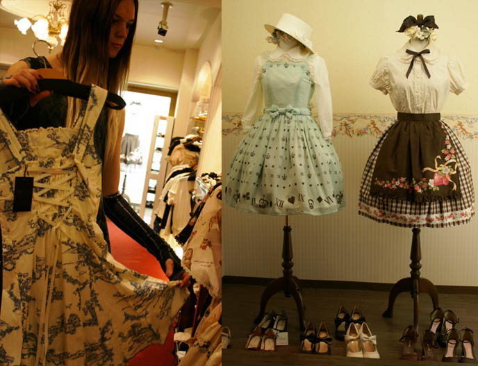 LOLITA STORES & SHOPPING MAP, SHINSAIBASHI JAPAN. SWEET LOLI SHOES