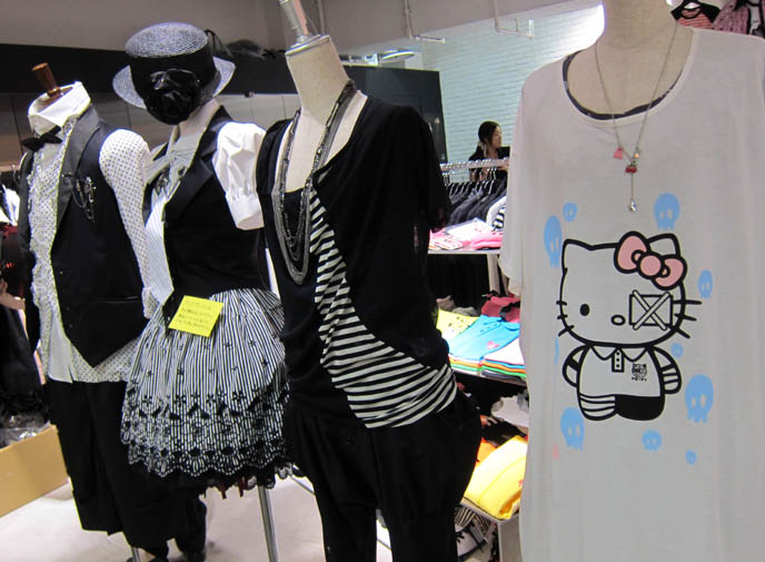 hello kitty t-shirt, rare limited edition, bloody injured sanrio, LAFORET HARAJUKU: GOTHIC LOLITA PUNK ALTERNATIVE BOUTIQUES, TOKYO CLOTHING STORES. ROCKING HORSE SHOES, BABY THE STARS SHINE BRIGHT. classic sweet lolita, gosurori, gothloli egl, shopping guide tokyo, gothic japan girl models, spooky goth emo teens, japanese tokyo alternative punk clothes, women's designer brand clothing, department stores japanese, visual kei teens
