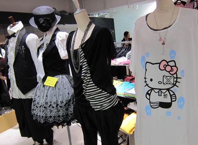 hello kitty t-shirt, rare limited edition, bloody injured sanrio, LAFORET HARAJUKU: GOTHIC LOLITA PUNK ALTERNATIVE BOUTIQUES, TOKYO CLOTHING STORES. ROCKING HORSE SHOES, BABY THE STARS SHINE BRIGHT. classic sweet lolita, gosurori, gothloli egl, shopping guide tokyo, gothic japan girl models, spooky goth emo teens, japanese tokyo alternative punk clothes, women's designer brand clothing, department stores japanese, visual kei teens