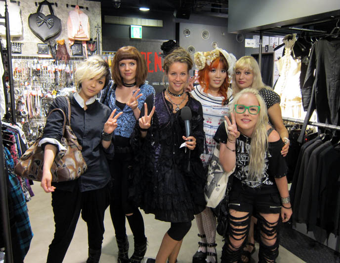 harajuku girls tv show, filming in japan, crazy fashion tokyo host