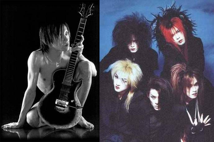 LUNA SEA CONCERT IN LA: FIRST USA VISUAL KEI PERFORMANCE. T-SHIRT WINNER ANNOUNCED, BLOG TV LIVECAST. jrock bands, Ryuichi (Vocals), Sugizo (Guitar), J (Bass), Inoran (Guitar) and Shinya (DRUMS). luna sea band japanese rock group, visual shock rockers hair makeup style