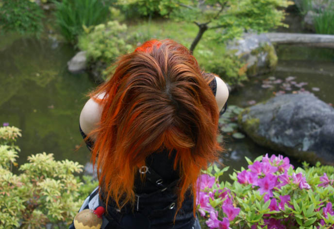orange hair, secret japanese zen garden, NARA, JAPAN: A TRIP TO THE ANCIENT JAPANESE CITY. TODAIJI TEMPLES, TRAVELLING TO SACRED BUDDHIST GROUND. Nara, Kansai, Japan. Ancient Japanese capital, temple, shrines, the Giant Buddha, nara hotels, Nara Park, restaurants, Kasuga, Takarazuka