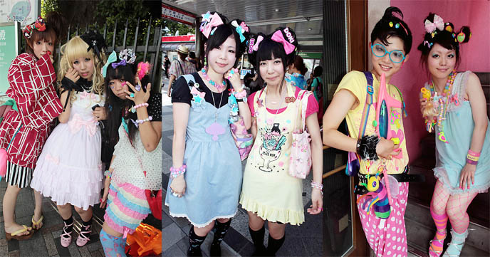 Modern Japanese street fashion Though the styles have changed over the years street fashion is still prominent in Tokyo today Young adults can often be found wearing subculture attire in large urban fashion districts such as Harajuku UraHarajuku Aoyama Ginza Odaiba Shinjuku and Shibuya Lolita