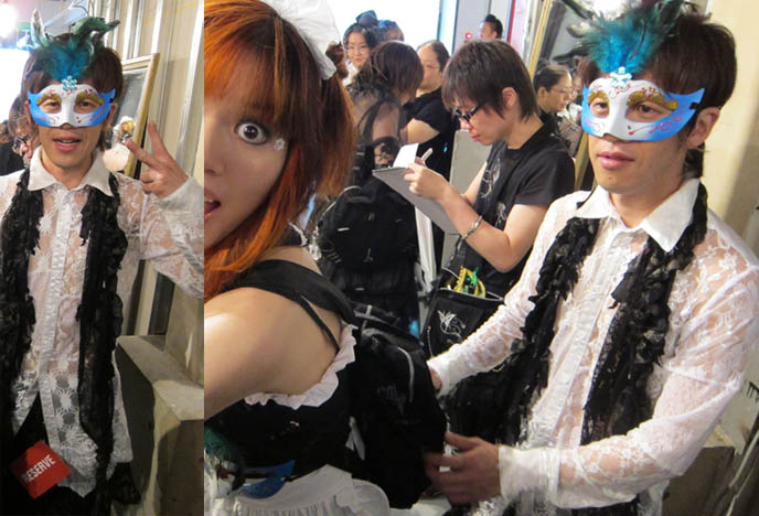designer of H.NAOTO, hirooka naoto, GOTH NIGHT TOKYO: 2010 FASHION RUNWAY SHOW, NAOTO HEAVEN HARAJUKU. MODERN JAPANESE GOTHIC DECONSTRUCTED CLOTHING. Hirooka naoto, goth alternative modelling, s-inc, otakon, video japan goth models, avantgarde weird crazy experimental clothes,