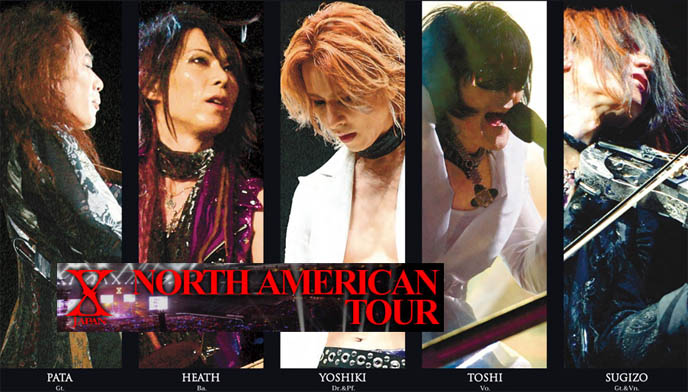 X JAPAN NORTH AMERICAN TOUR DATES, 2010: YOSHIKI'S VIDEO GREETING TO FANS. xjapan first tour of the United States and Canada, dates and concert schedule for 2010, buy tickets online for jrock visual kei concerts, usa japanese rock concerts, INTERVIEW WITH DJ CHIHIRO & DEE LEE OF VANISHED EMPIRE, TOKYO GOTH BAND.