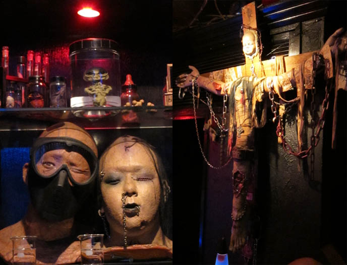 FETISH BDSM BAR IN TOKYO, JAPAN: GUINEA PIG. STRANGEST, WEIRDEST GOTH BARS IN KABUKI-CHO, SHINJUKU. Crazy theme cafes, japanese weird places, bizarre foods, golden gai drinking, punk bartender, rare horror b-movie posters