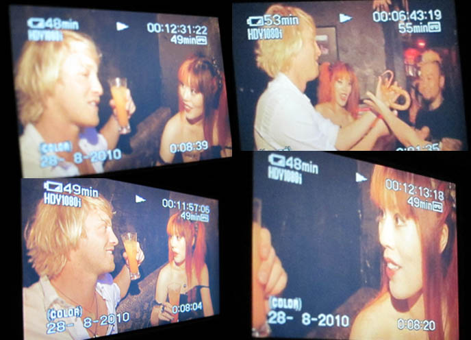 SHINJUKU HOST CLUBS. AUSTRALIAN TRAVEL TV SHOW VISITS GOLDEN GAI, PUNK ROCK & VISUAL KEI BARS KABUKO-CHO, creepy goth girl makeup, long spider eyelashes, fake eyelash cool japanese style, ozz croce, ozz on japan cyber female clothing brand, candy spooky theater cosplay, two tims sony australia, elsewhere productions hosts