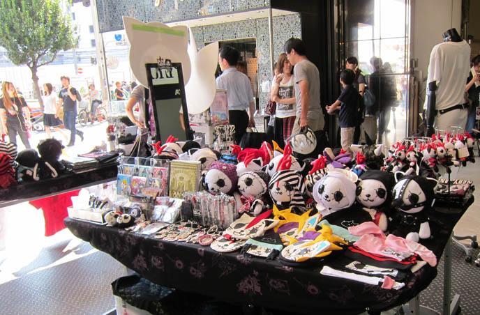 HANGRY & ANGRY H.NAOTO POP UP STORE, STUDIO ALTA. SEX POT REVENGE HARAJUKU, BUY PUNK CLOTHING JAPAN. Male rock jrock clothes, boutiques, sexpot fashion, cute kawaii cats brand mascots, japanese gal gyaru shops, shinjuku tokyo
