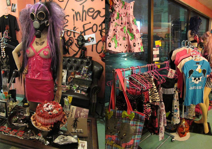 NUDE AND RUDE: TOKYO EMO GOTH PUNK ALTERNATIVE CLOTHING STORE, KOENJI INDUSTRIAL ZOMBIE HORROR BOUTIQUE. NUDE N' RUDE scene queens japan, japanese audrey kitching, jeffrey star clothes, iron fist, medusa's makeup, girls and corpses, gasmask, Kreepsville, jessica louise clothing line, Shrine, Charles of London, bauhaus, sex pistols