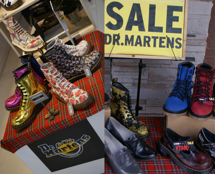dr martens japan, doctor marten boots, latest custom gold shoes, footwear punk goth, SWEET CLASSICAL & GOTHIC LOLITA SHOPS, LOLI JAPAN CLOTHING. lolita young girls, models clothes, fashion japanese streets, fruits clothing, boudoir burlesque victorian corsets, gowns, victorian rococo dresses, wedding gowns, accessories shinsaibashi, kansai, osaka shopping district guide, where to buy women's clothes