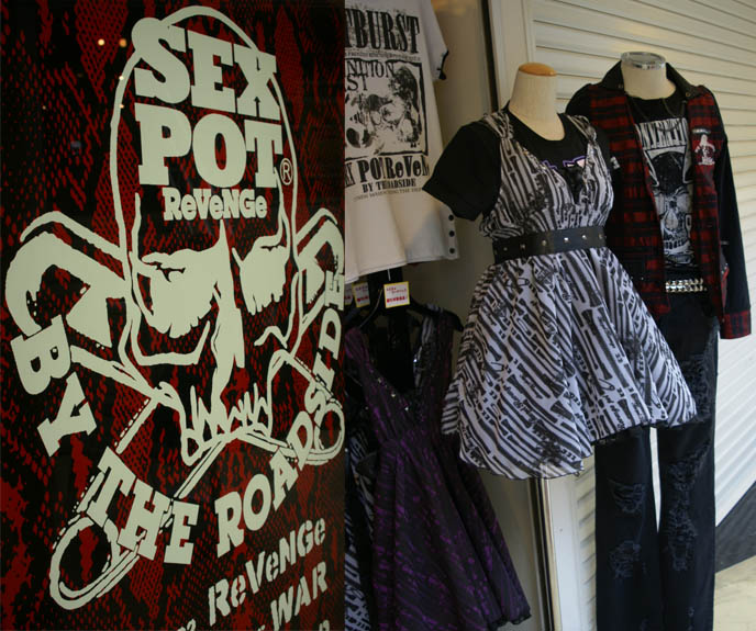 DANGEROUS NUDE, SEX POT REVENGE MENS & WOMEN'S CLOTHING OSAKA. JAPANESE HEAVY METAL BANDS, BLOOD STAIN CHILD & GASTUNK ON CNN. OSAKA Kansai umeda SHOPPING DISTRICT: SHINSAIBASHI GOTHIC LOLITA JAPANESE PUNK SHOPS, BEST CLOTHING BOUTIQUES, FASHION GUIDE. JAPANESE MALE CLOTHING FASHION BRANDS, STYLISH STREETWEAR IN SHINJUKU TOKYO. goth alternative stores, punk clothing, listen flavor, peace now, womenswear japan, buy japanese womens clothes, wholesale, cheap asian clothing, kawaii cute accessories, asia fashion retailers, online shops