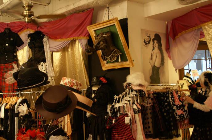 Burlesque, corsets and tutu skirts. moulin rouge costumes, DANGEROUS NUDE, SEX POT REVENGE MENS & WOMEN'S CLOTHING OSAKA. JAPANESE HEAVY METAL BANDS, BLOOD STAIN CHILD & GASTUNK ON CNN. kikirara shoten,  OSAKA Kansai umeda SHOPPING DISTRICT: SHINSAIBASHI GOTHIC LOLITA JAPANESE PUNK SHOPS, BEST CLOTHING BOUTIQUES, FASHION GUIDE. JAPANESE MALE CLOTHING FASHION BRANDS, STYLISH STREETWEAR IN SHINJUKU TOKYO. goth alternative stores, punk clothing, listen flavor, peace now, womenswear japan, buy japanese womens clothes, wholesale, cheap asian clothing, kawaii cute accessories, asia fashion retailers, online shops
