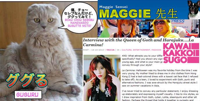 japanese language learning lessons, cat manga, japan cats cartoon anime, comic book, learn kanji, ググる guguru, kawaii blog, jpop tumblr gothic lolita cute nails, bentos, characters, scottish fold cat sitting