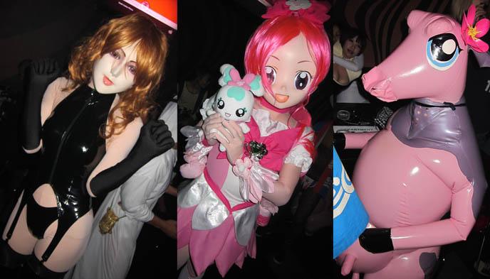 着ぐるみ KIGURUMI, anime bodysuits, dollars masks, japanese weird fetishes, crazy halloween costumes, best costume halloween, creative inspiration cute japanese goth girls, asian girl short dress, fashion asia street snaps, punk women's fashion japanese, club night, TORTURE GARDEN JAPAN: HALLOWEEN FgETISH BDSM CLUB PARTY, AKASAKA EREBOS TOKYO. hot SEXY JAPANESE GIRLS IN LEATHER. goth clubs shinjuku, gothic lolita punk events, s&m, slaves, alternative parties, nightlife, nightclubs tokyo