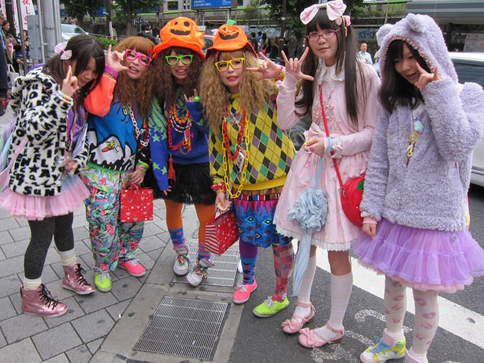 harajuku bridge girls crazy fashion