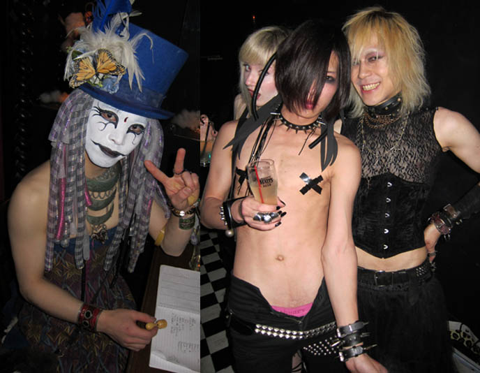 TOKYO DECADANCE CYBER GOTH PARTY AT CHRISTON CAFE, JAPAN. SALINE INJECTIONS IN FOREHEAD, BIZARRE DONUT HEAD EXTREME BODY MODIFICATIONS. extreme body mods, weird piercings, snake tongues, injecting saline into bodies, dj sisen, gothic japanese cyber cool hair, deejay, sisen, g-sus, JAPAN NIGHTLIFE, BEST NIGHTCLUBS & BARS IN TOKYO: CHRISTON CAFE THEME RESTAURANT, DECADANCE BAR, GOTH EBM INDUSTRIAL PARTY MIDNIGHT MESS. SEXY JAPANESE GIRLS IN LEATHER. goth clubs shinjuku, gothic lolita punk events, alternative parties, nightlife, cool trendy hip latest newest nightclub shinjuku, livehouses, punk bands, travel tv reporter, interviewing subcultures documentary, tv show