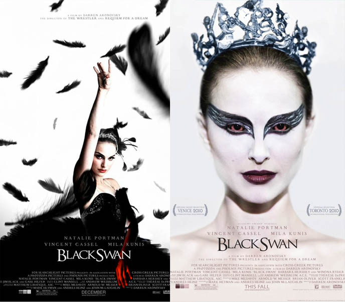 black swan makeup, natalie portman movie poster, bDarren Aronofsky. Natalie Portman, Mila Kunis, Vincent Cassel, dark ballerina film, BLACK SWAN Movie Trailer Poster Synopsis, news, reviews, spoilers, images, stills