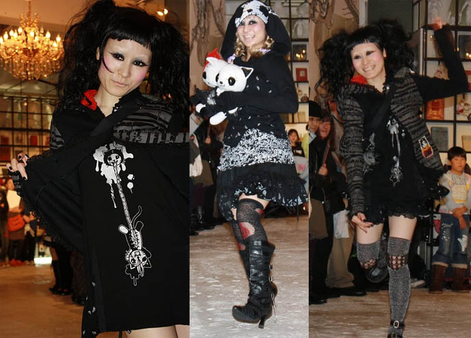 H.NAOTO FASHION SHOW, INTERVIEW: HANGRY & ANGRY DESIGNER GASHICON. HARAJUKU LATEST PUNK STREET STYLES, CUTE JAPANESE GIRL MODELS. HNAOTO sixh, s-inch, anime conventions selling gothic lolita clothes, elegant goth aristocrat, punk japanese clothes for sale, gothic lolita punk fashion harajuku h.naoto sixh hangry angry gashicon cute japanese girls models lolitas pretty kawaii adorable girl young teens schoolgirls modeling b-52s runway show presentation collection preview tokyo street style cool new fashions latest trendy fads streetwear s-inc la carmina lacarmina goth girls interview designer manga anime jpop