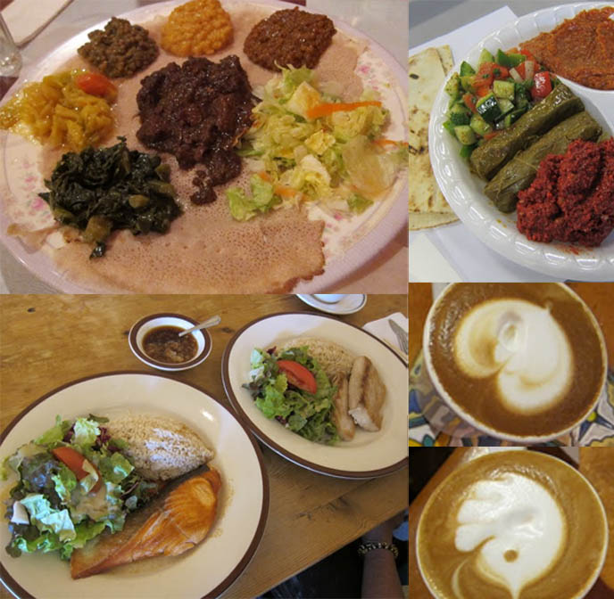 Little Ethiopia, ethiopian food los angeles, spongy bread dips, Sawtelle Kitchen Japanese fusion cuisine, italian cappucinos from Urth caffeBEST PLACES TO EAT IN LOS ANGELES! LA HEALTHY RESTAURANTS, ORGANIC VEGETARIAN FOOD, AROMA, M CAFE, FARMER'S MARKET WEST HOLLYWOOD. vegan restaurants la, beverly hills, whole foods fairfax, magnolia cafe los angeles, trendy hip place sto eat, cool food, weird restaurants, goth dining, fitness food, ethnic restaurants, little ethiopia, w3rd restaurant row