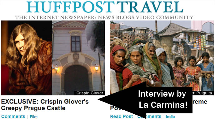 BLOGGING FOR HUFFINGTON POST! CRISPIN GLOVER'S CZECH CASTLE: INTERVIEW & INVITATION. HUFF POST TRAVEL & STYLE BLOGGER. I'VE BECOME A BLOGGER FOR HUFFINGTON POST! HUFF POST TRAVEL & STYLE BLOGGING, AOL MERGER, INVITATION TO BLOG. how to join huffington post, hiring, hire bloggers, professional fashion blog, paid jobs blogging, problogging, travel writing, travel journalist, tv host, fashion writer, style journalism, hire writers, blog monetization, make money online, Absinthe, Crispin Glover, Crispin-Glover, Czech Republic, Film, Home Decor, Photos, Prague, Slideshow, Travel, Travel News, Crispin hellion glover, it trilogy, experimental films, prague castles, czech republic estates, chateaus, celebrity homes