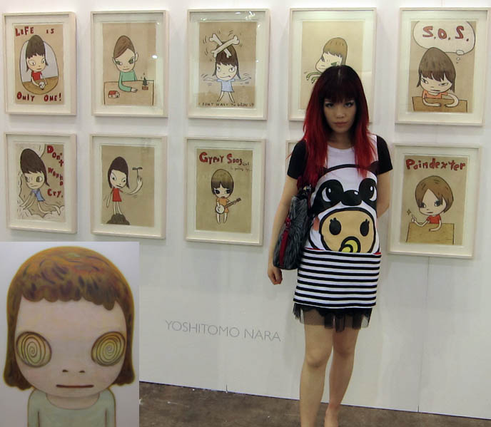 HONG KONG ART FAIR 2011, HK FESTIVAL EXHIBIT OF FAMOUS ARTISTS. YOSHITOMO NARA, TAKASHI MURAKAMI, WARHOL. ART FAIRS HONG KONG CONTEMPORARY ARTWORK, Art collection, cocktail reception, hong kong convention center wan chai, Ai Weiwei, David LaChapelle, terry richardson, japanese pop art, japan artists, kawaii drawings, paintings cute girls, Pablo Picasso and Damien Hirst, china art gallery, museums