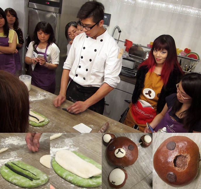PANDA BREAD RECIPE: LESSONS AT A CUTE COOKING SCHOOL IN HONG KONG. RILAKKUMA BEAR, CAKE DECORATION LESSONS, hong kong cooking lessons, hk cooking school, chinese cooking, cute bento decoration techniques, princess cake house, food workshop, best desserts hong kong, how to make panda bread, panda bear bread, cute bear loaf, sanrio, hello kitty, baking