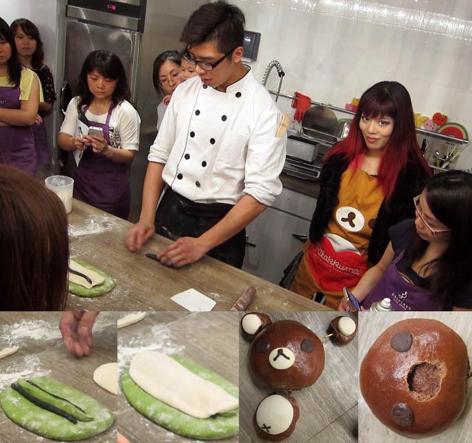 PANDA BREAD RECIPE: LESSONS AT A CUTE COOKING SCHOOL IN HONG KONG. RILAKKUMA BEAR, CAKE DECORATION LESSONS, hong kong cooking lessons, hk cooking school, chinese cooking, cute bento decoration techniques, princess cake house, food workshop, best desserts hong kong, how to make panda bread, panda bear bread, cute bear loaf, sanrio, hello kitty, baking